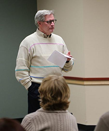 craig vansandt leads a discussion
