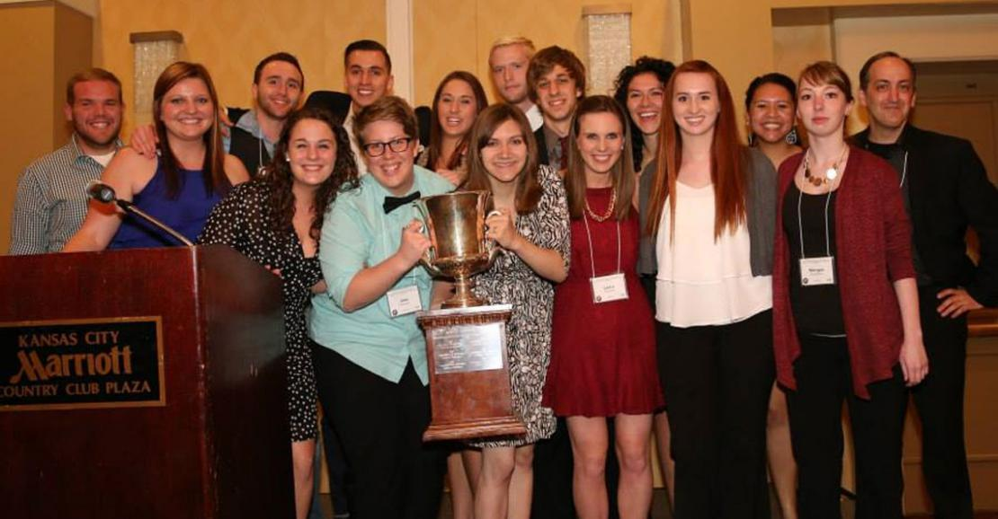 UNI wins first place at student advertising competition